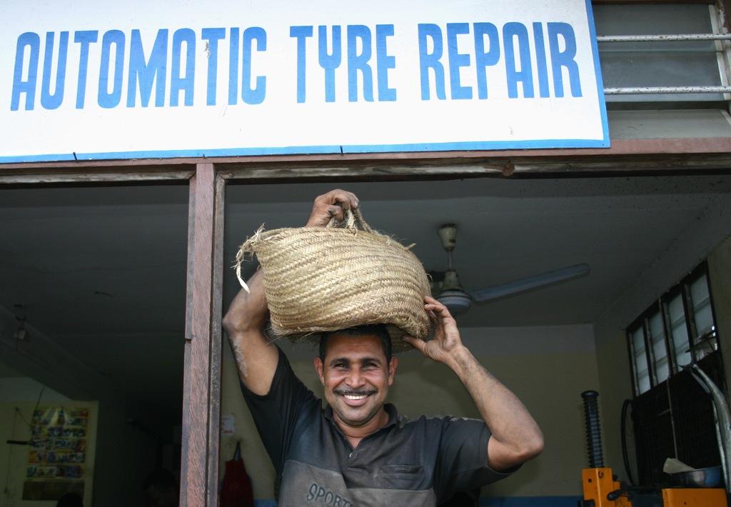car repair kikapu on head