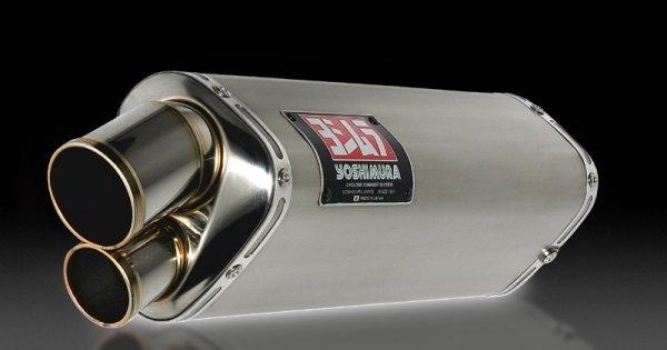 yoshimura japan slip on tri oval titanium exhaust for suzuki gsx r1000 2005 06 150 506 5h81
