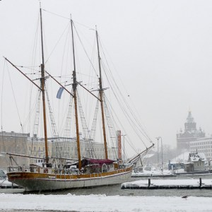 I worried about falling into the water of Helsinki harbour in January! / Jill Browne