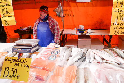 Selling fish on a cold day in Helsinki / Jill Browne