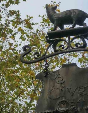 The sign of The Civet Cat in Kensington
