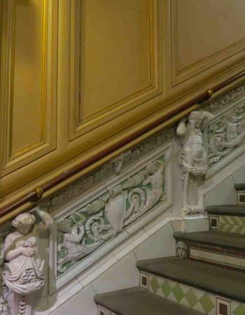 Ceramic staircase at the Victoria and Albert Museum