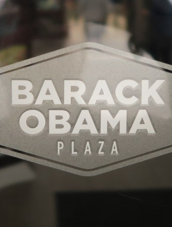 Barack Obama Plaza in Moneygall | Jill Browne