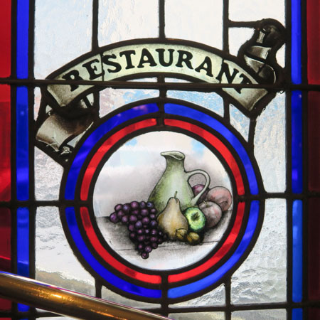 Restaurant pane by Jill Browne