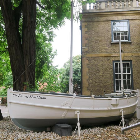 The Ernest Shackleton, a model of the James Caird at the Scott Polar Research Institute, Cambridge   Jill Browne