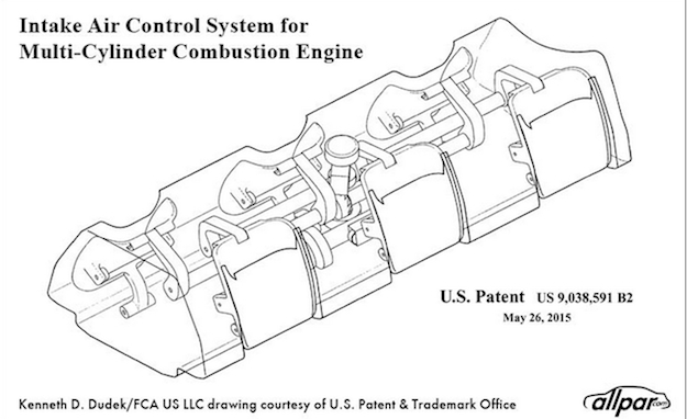 Fiat-Chrysler Patents New Air Intake System