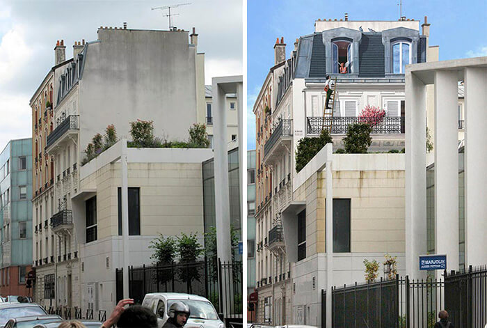 Increíbles fachadas pintadas que te harán dudar si son reales 19