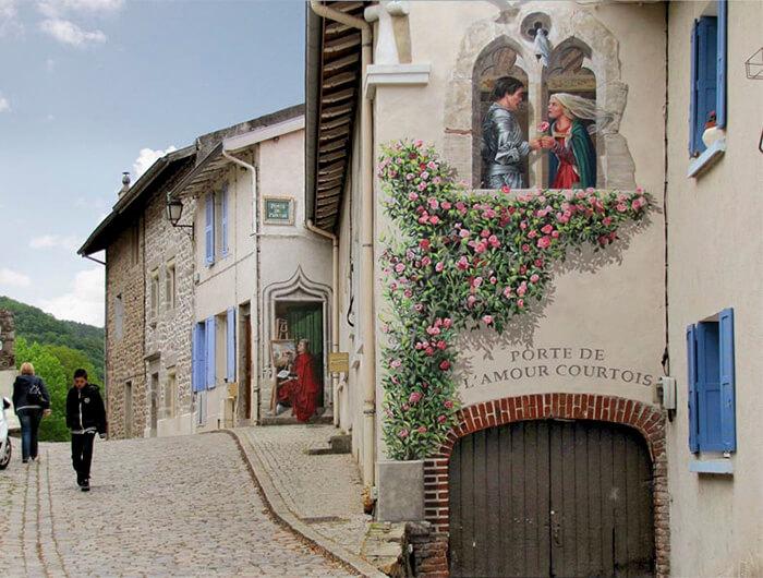 Increíbles fachadas pintadas que te harán dudar si son reales 27