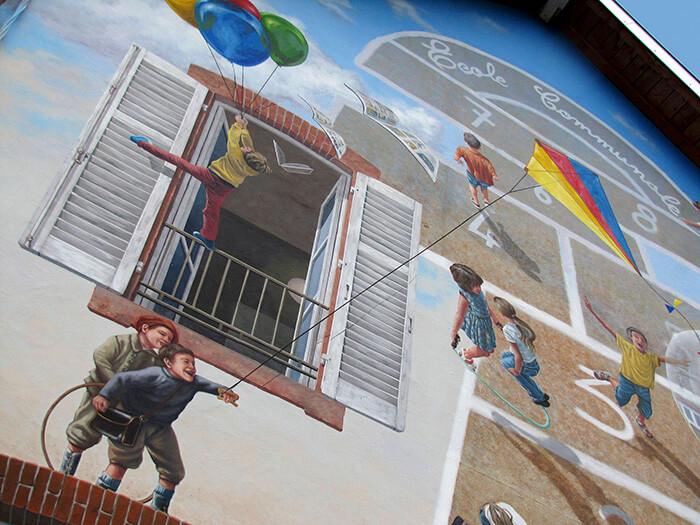 Increíbles fachadas pintadas que te harán dudar si son reales 31