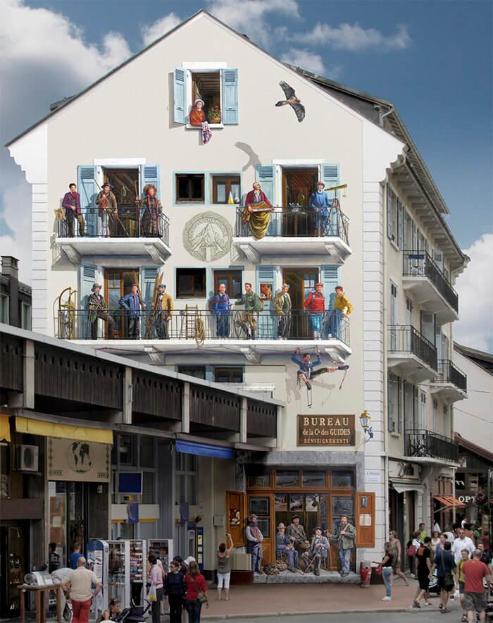 Increíbles fachadas pintadas que te harán dudar si son reales 34