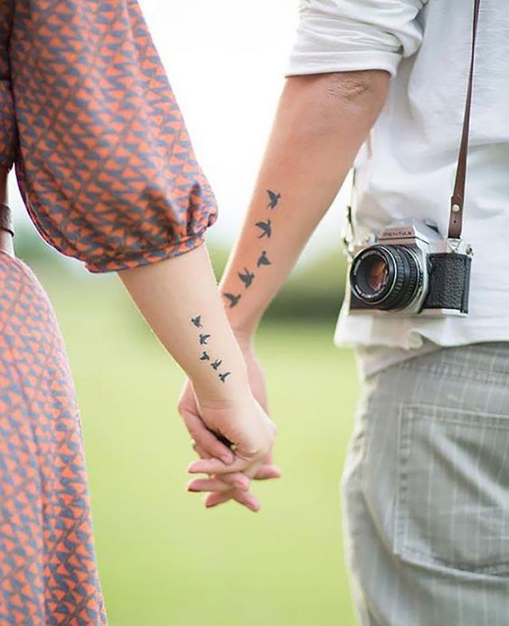 10 Tatuajes Originales Pequeños Y Simbólicos Para Parejas Enamoradas