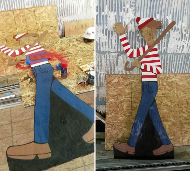 Obrero esconde a Waldo a diario para divertir a niños de un hospital vecino 02
