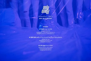 OnlyOneOf Track List Revealed... Music beyond the idol frame