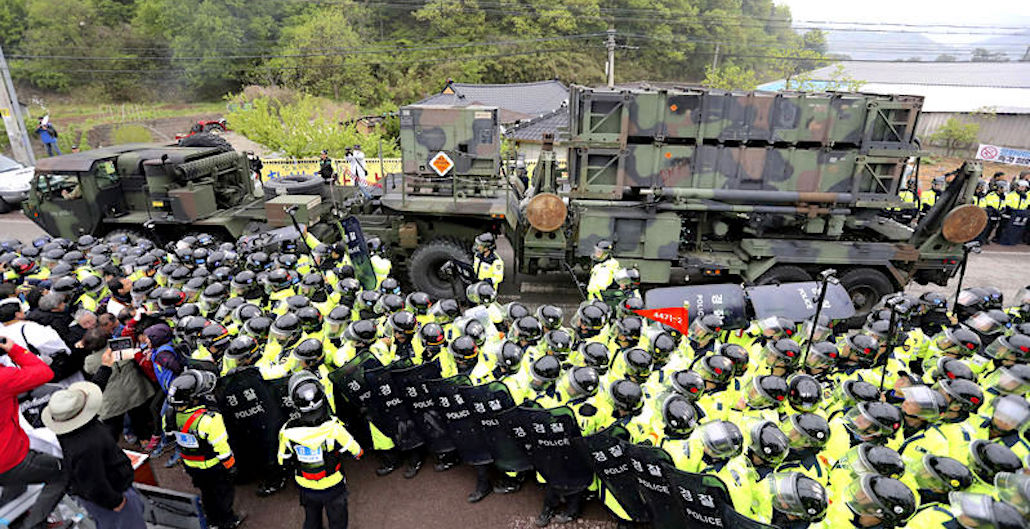 U.S. Moves Terminal High Altitude Area Defense (THAAD) Early to S. Korean Site