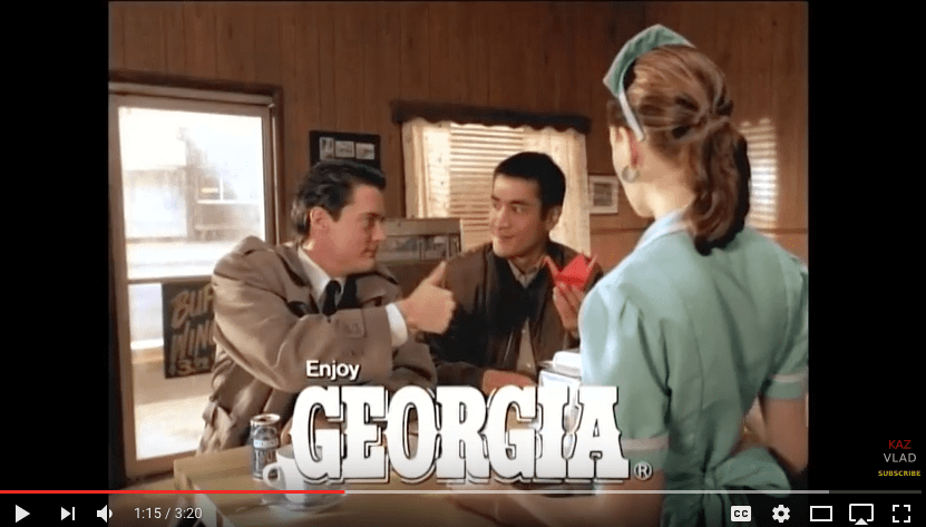 [VIDEO] Twin Peaks Season 2.5: Japan's Canned Coffee Ad Campaign