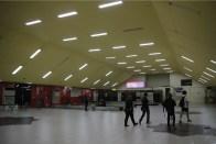 Terminal Kedatangan Polonia yang sudah kosong