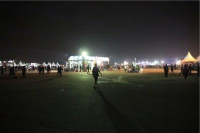 Runway malam hari