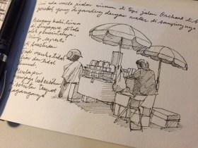 Pedagang Kaki Lima di Orchard Rd.