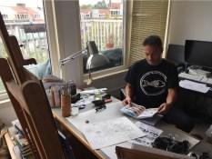 Mampir ke studio Peter van Dongen