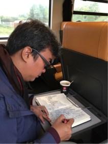 Sketching di kereta Bahn