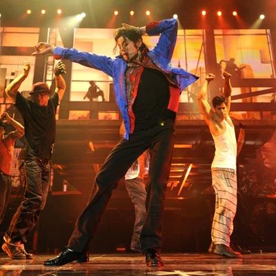 Michael Jackson practicando