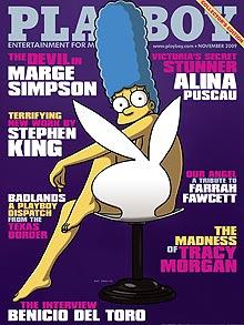 Marge Simpson en Playboy