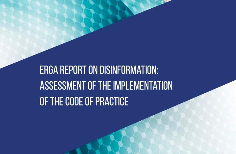 Rapport ERGA sur la désinformation