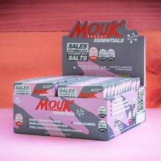 Caja 24 Blister MouK ESSENTIALS B12. Magnesio, Potasio, Vitamina B12.