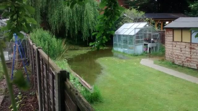 garden floods evidence of location