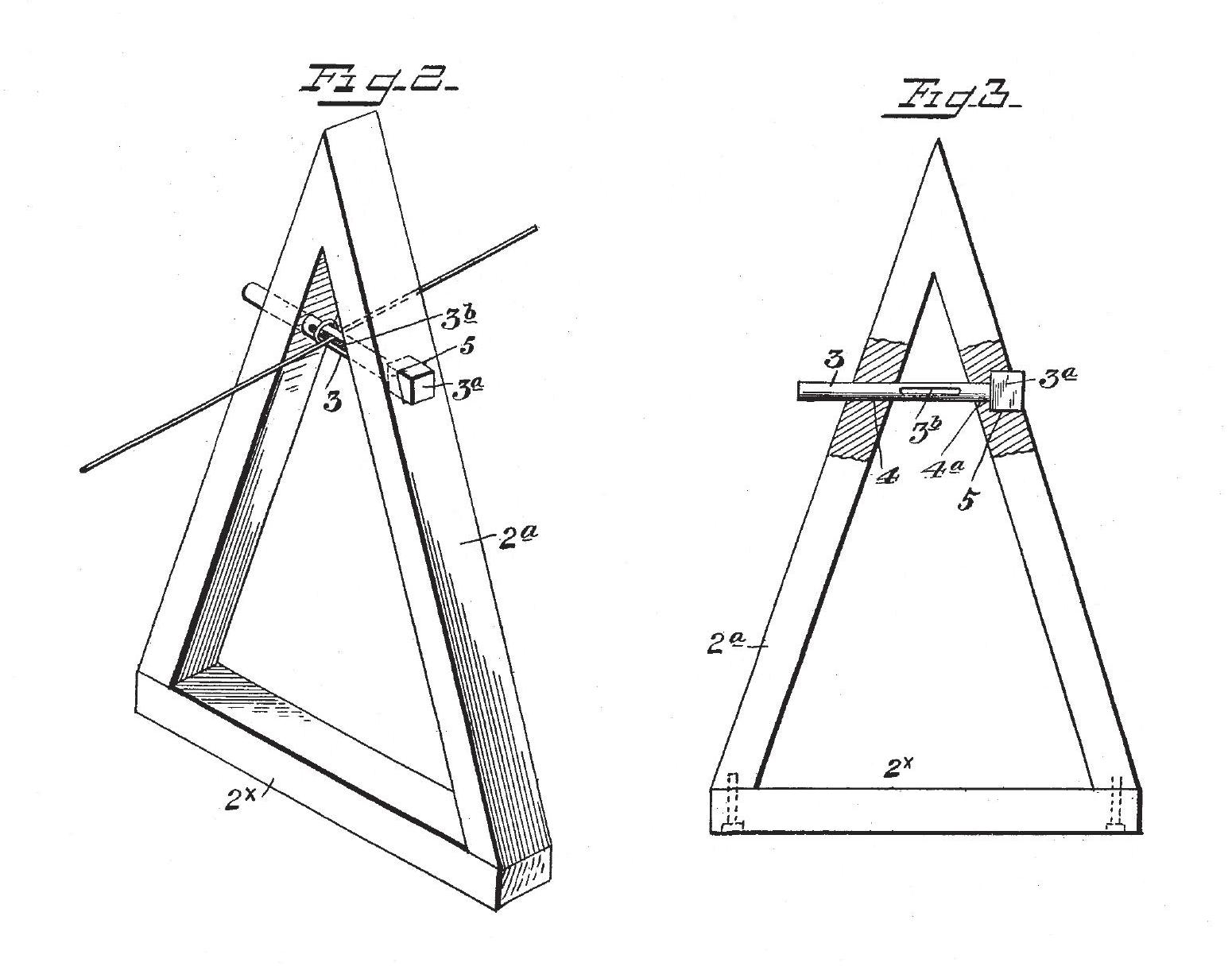 Leonard Weaver Patent Clothesline Support And Tightener