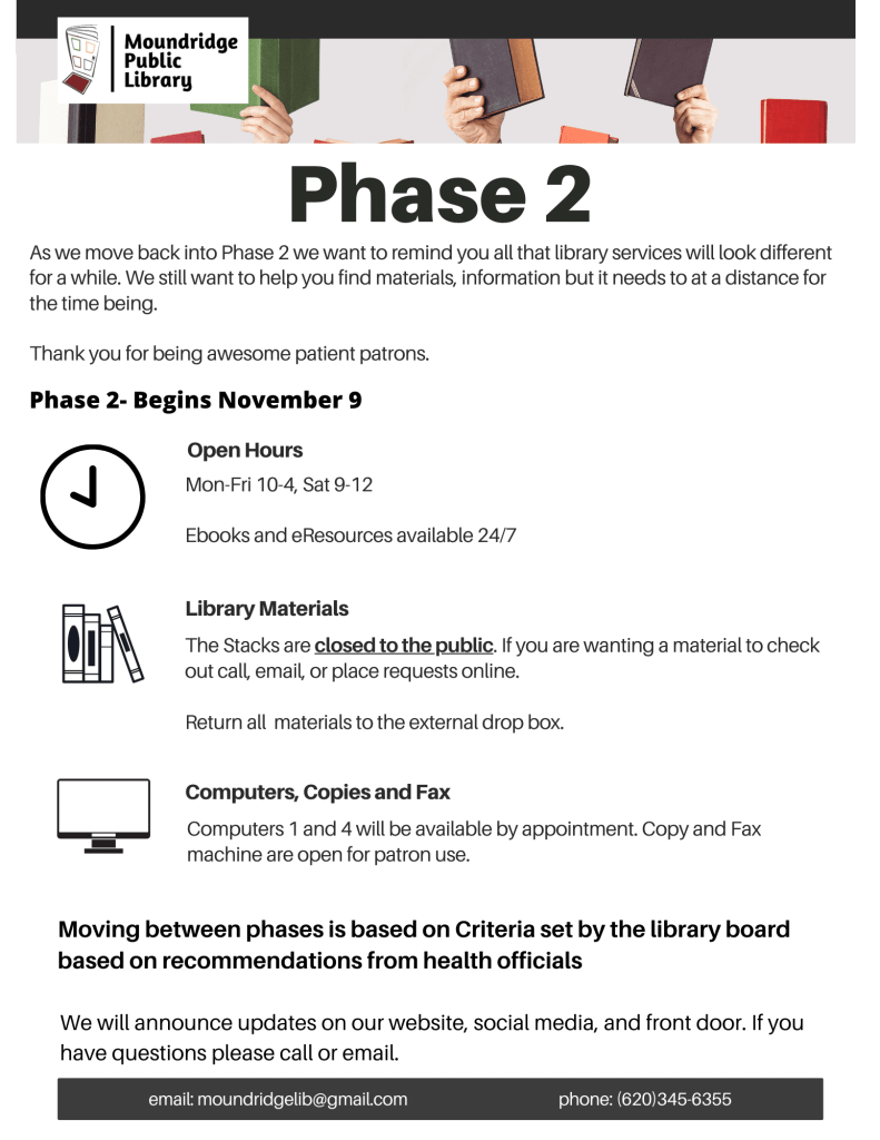 Going back to Phase 2 (1)