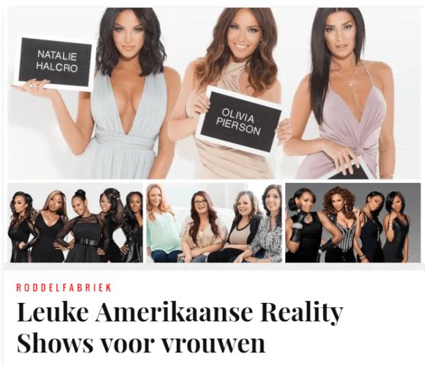 Leuke Amerikaanse Reality Shows voor vrouwen