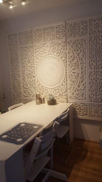 wandpaneel arabisch wit bloem home inspiratie