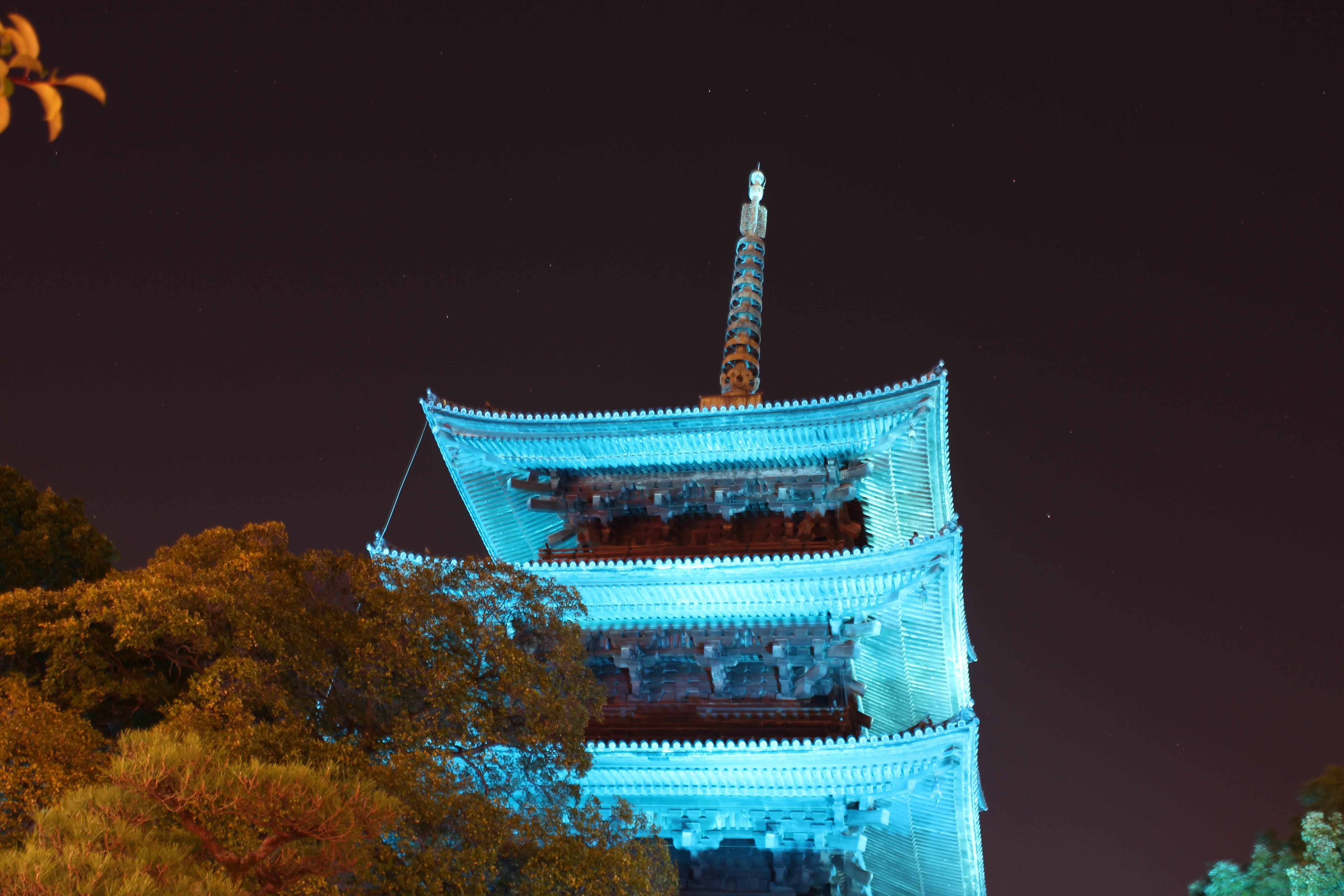 東寺 ブルーライトアップ