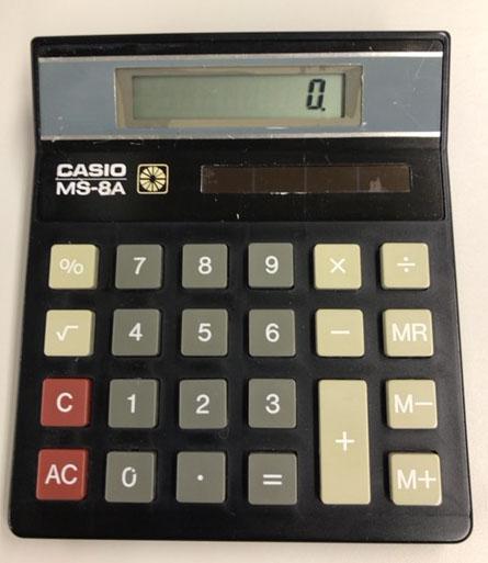CASIOの電卓MS-8A