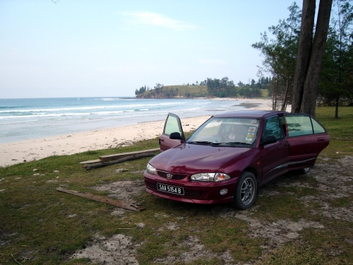 My car at Tip of Borneo