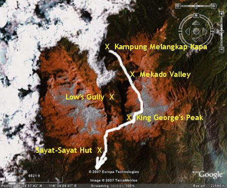 Melangkap Kapa - Mekado Valley - King George's Peak - Sayat-Sayat Trail