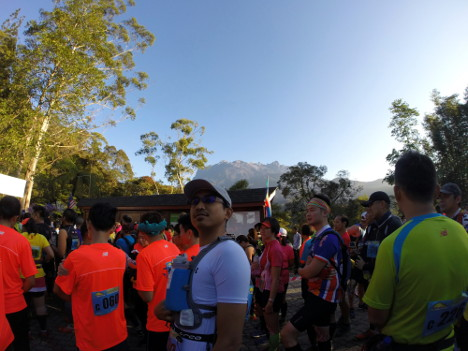 Kinabalu at the background