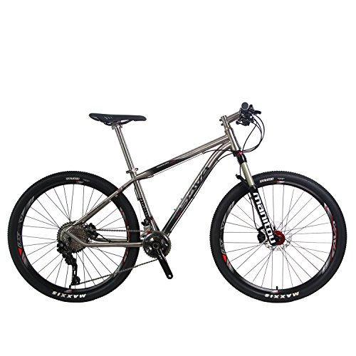 "SAVADECK Titanium Alloy 27.5"" Mountain Bike Complete Pro"