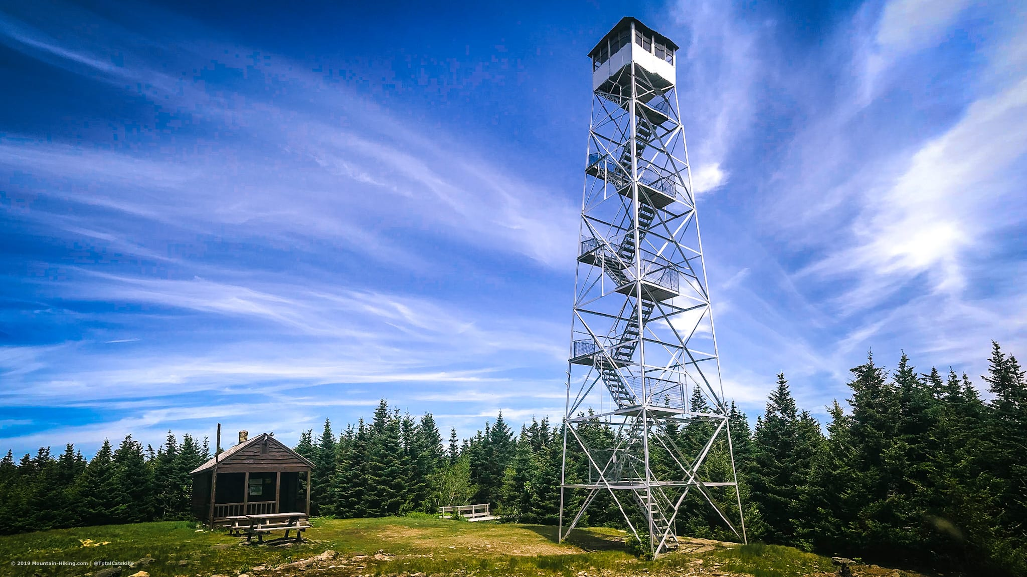 fire tower and cabin