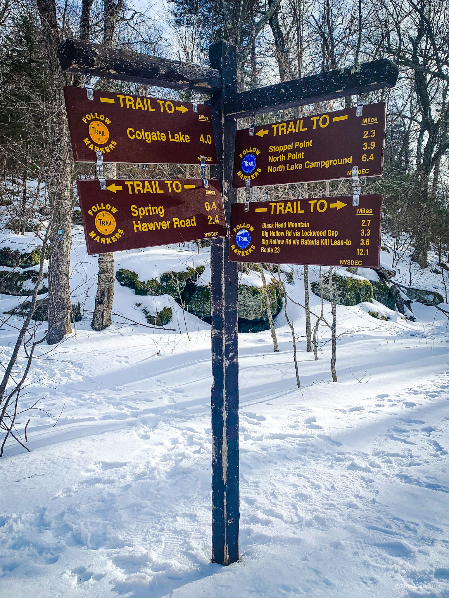 Dutcher Notch signage
