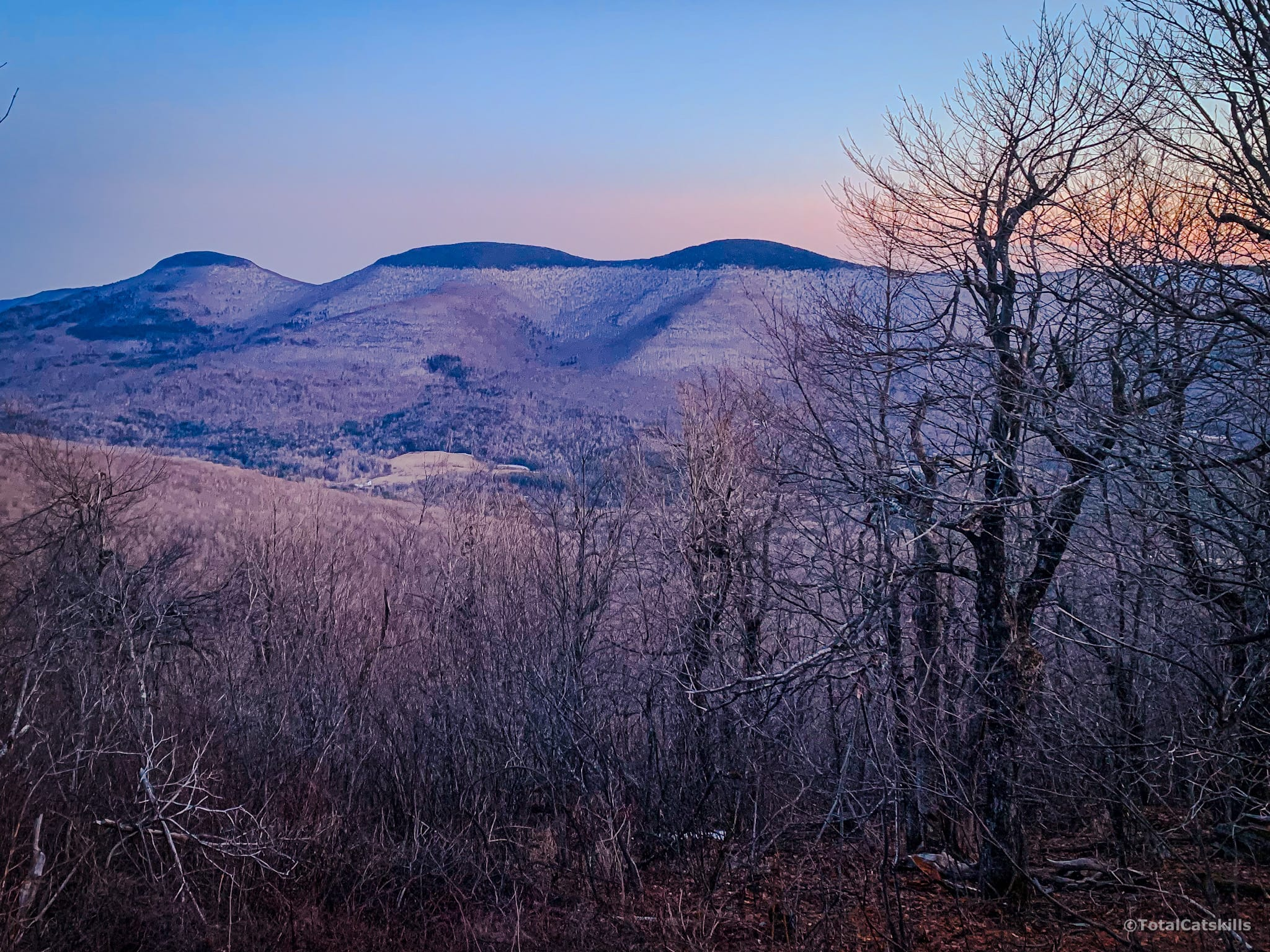 catskill mountains in distance