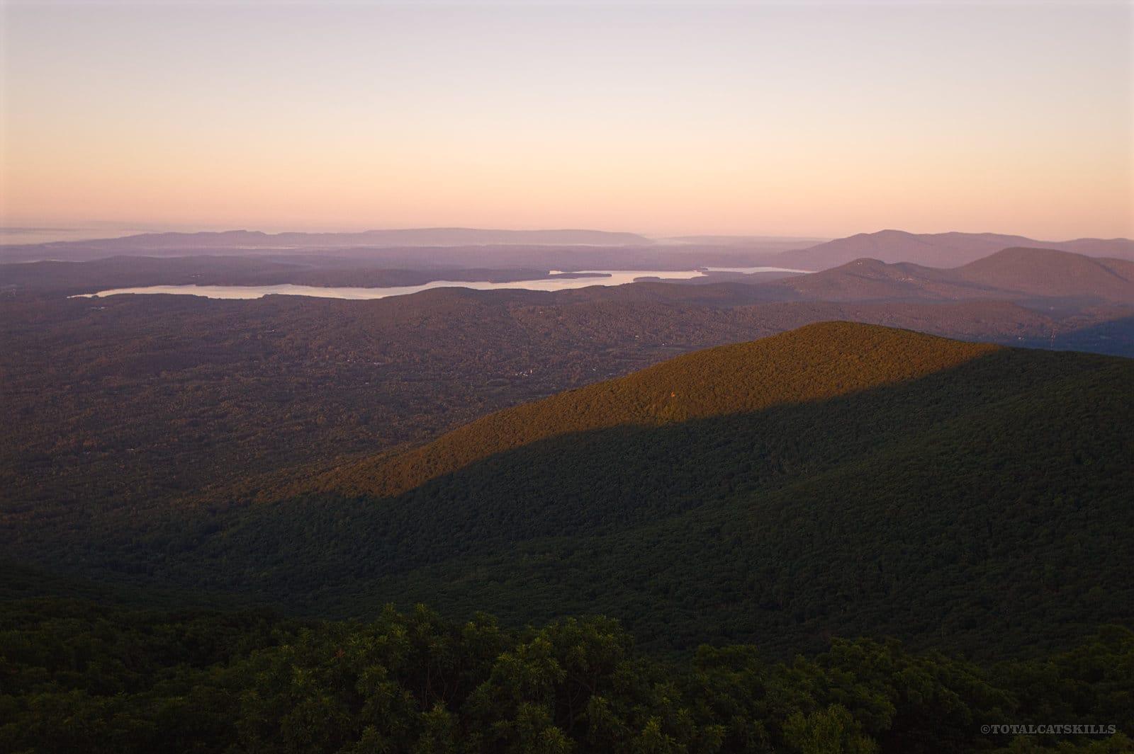 reservoir at dawn