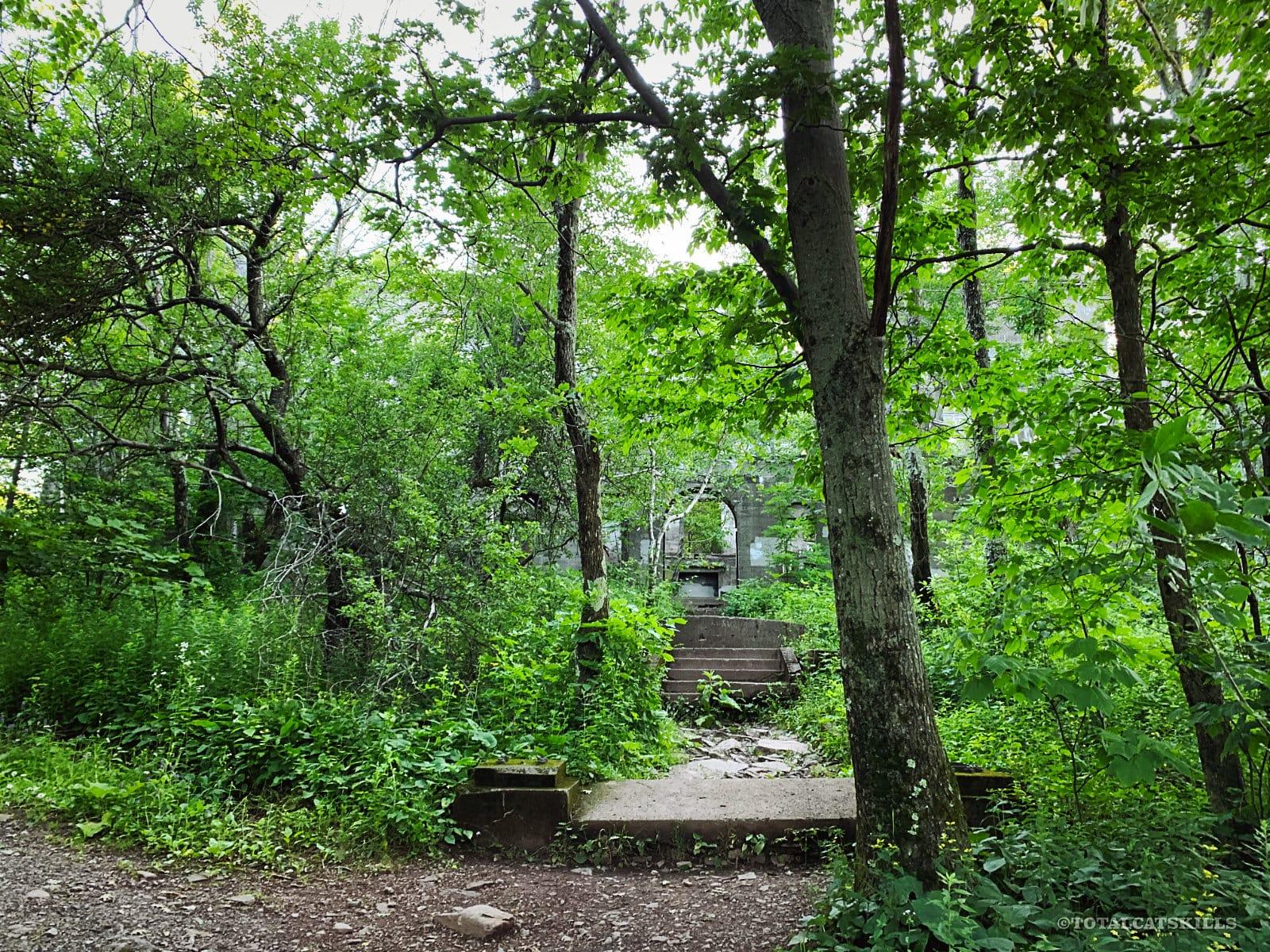 entrance to overlook mountainn house ruins, overlook mountain trail