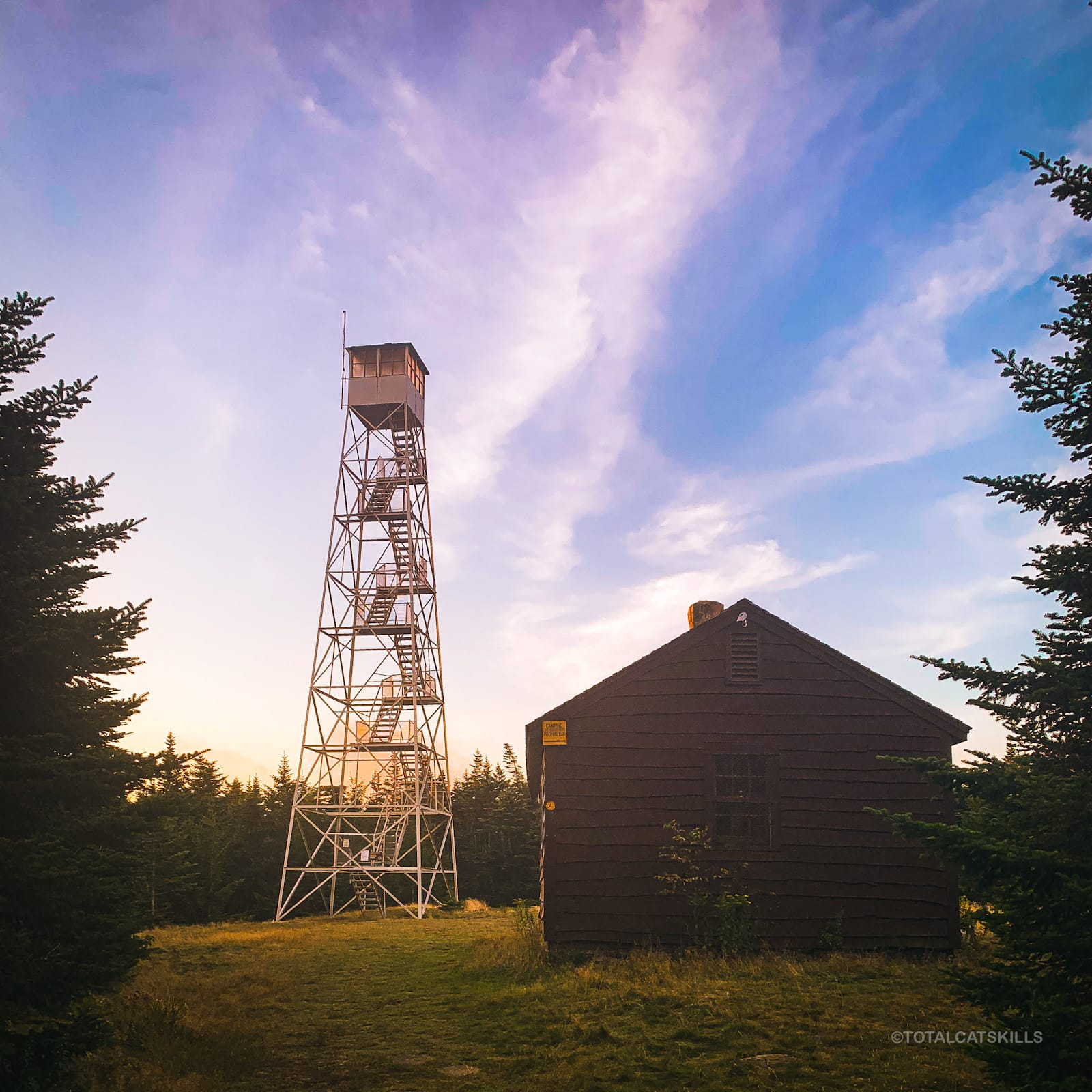 fire tower on summit