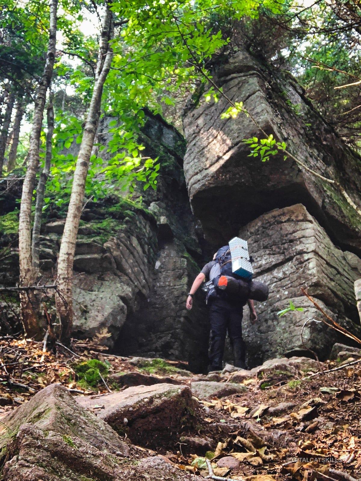 30' rock outcrop
