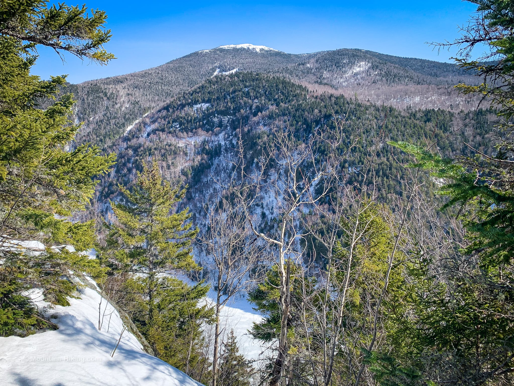 scenic Mountain View in winter