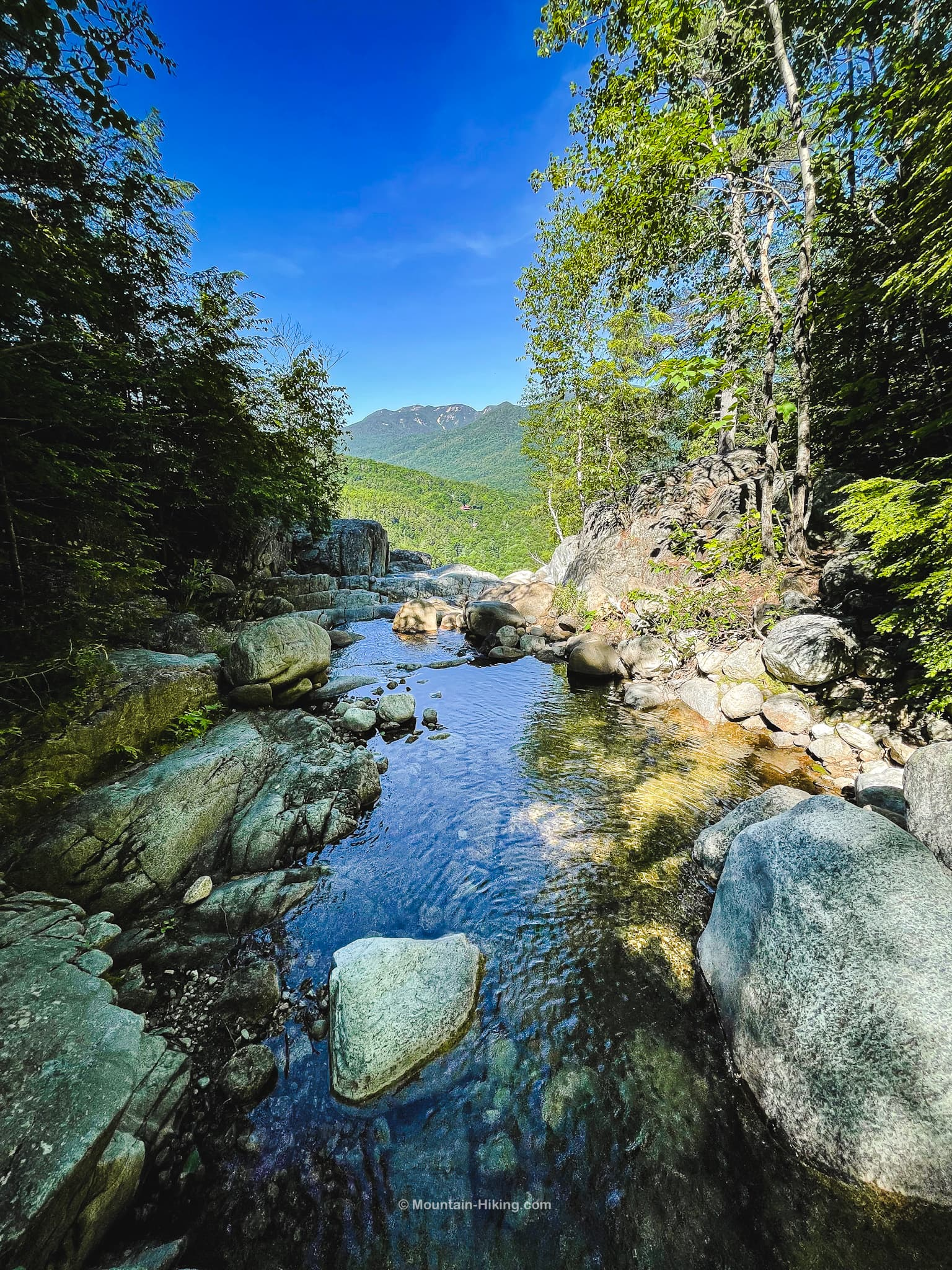 stream leading to top of falls