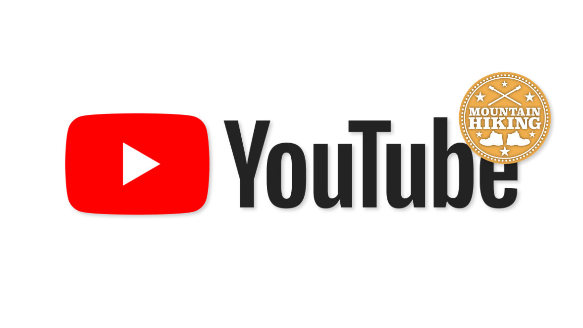 YouTube Logo and Mountain Hiking Logo