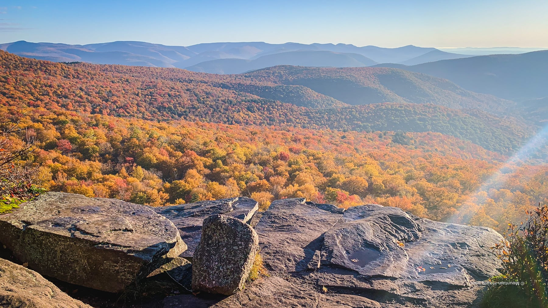 view from giant ledge in the catskills